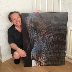 Chris Prince with elephant image